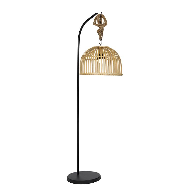 Buiten vloerlamp bamboe IP44 incl. LED RGBW - Mart Maurice