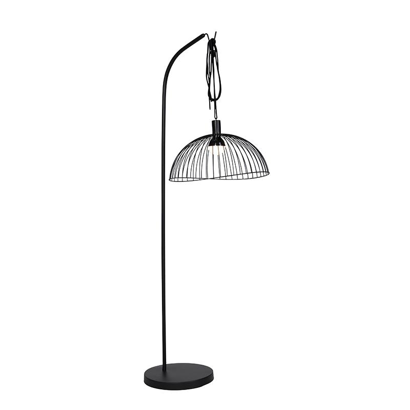 Design buiten vloerlamp zwart IP44 incl. LED RGBW - Mart Pua