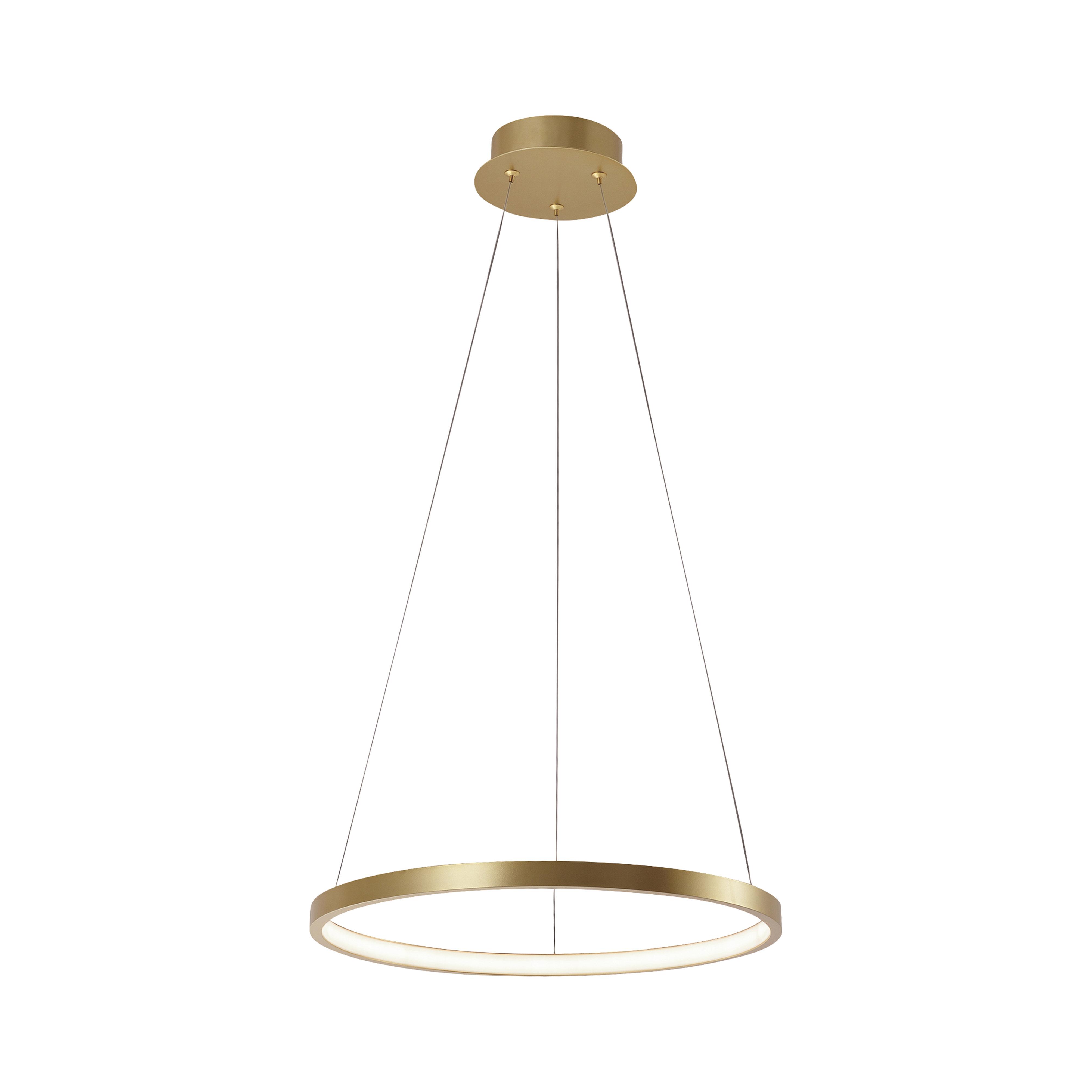 Moderne ring hanglamp goud 40cm incl. LED - Anella