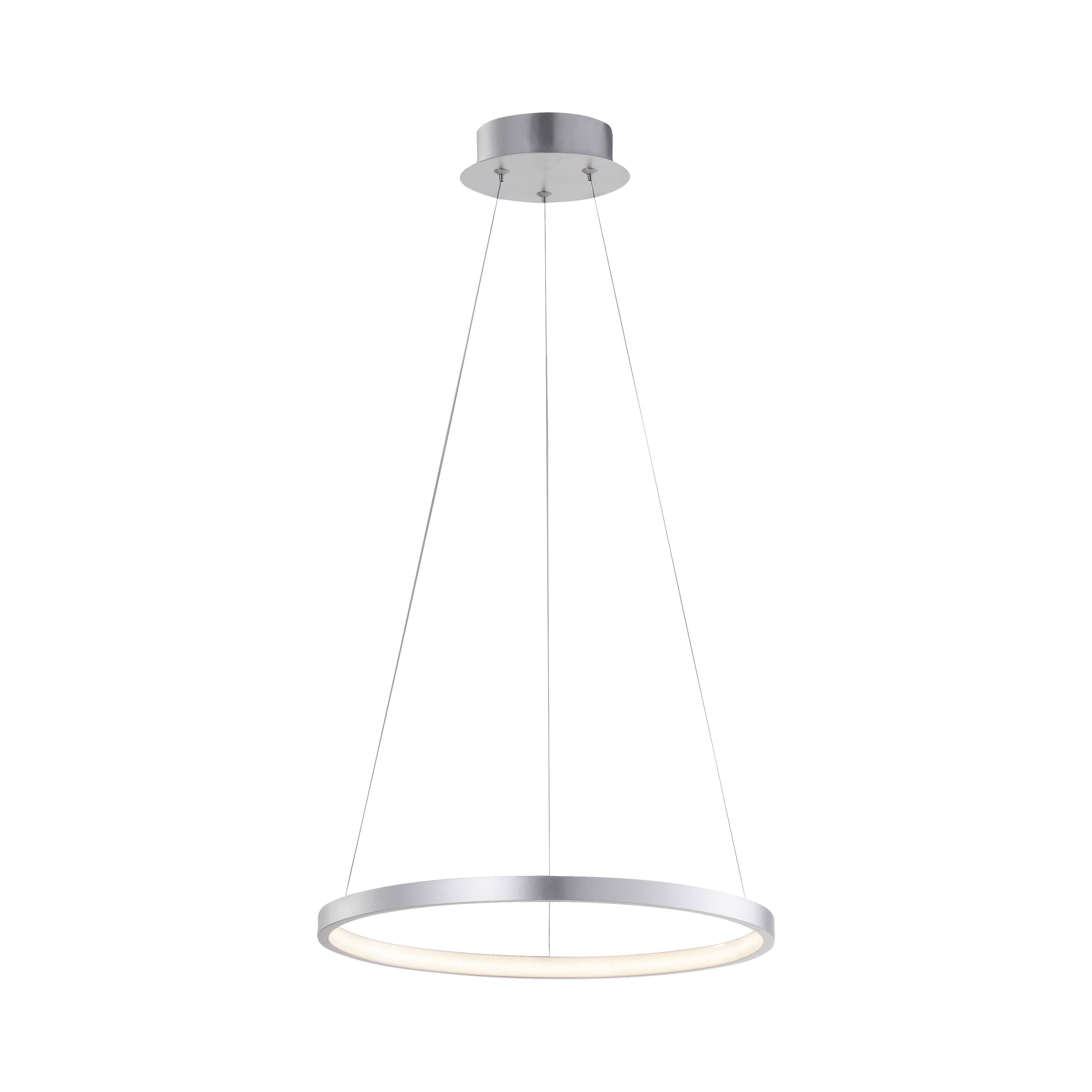 Moderne ring hanglamp zilver 40cm incl. LED - Anella