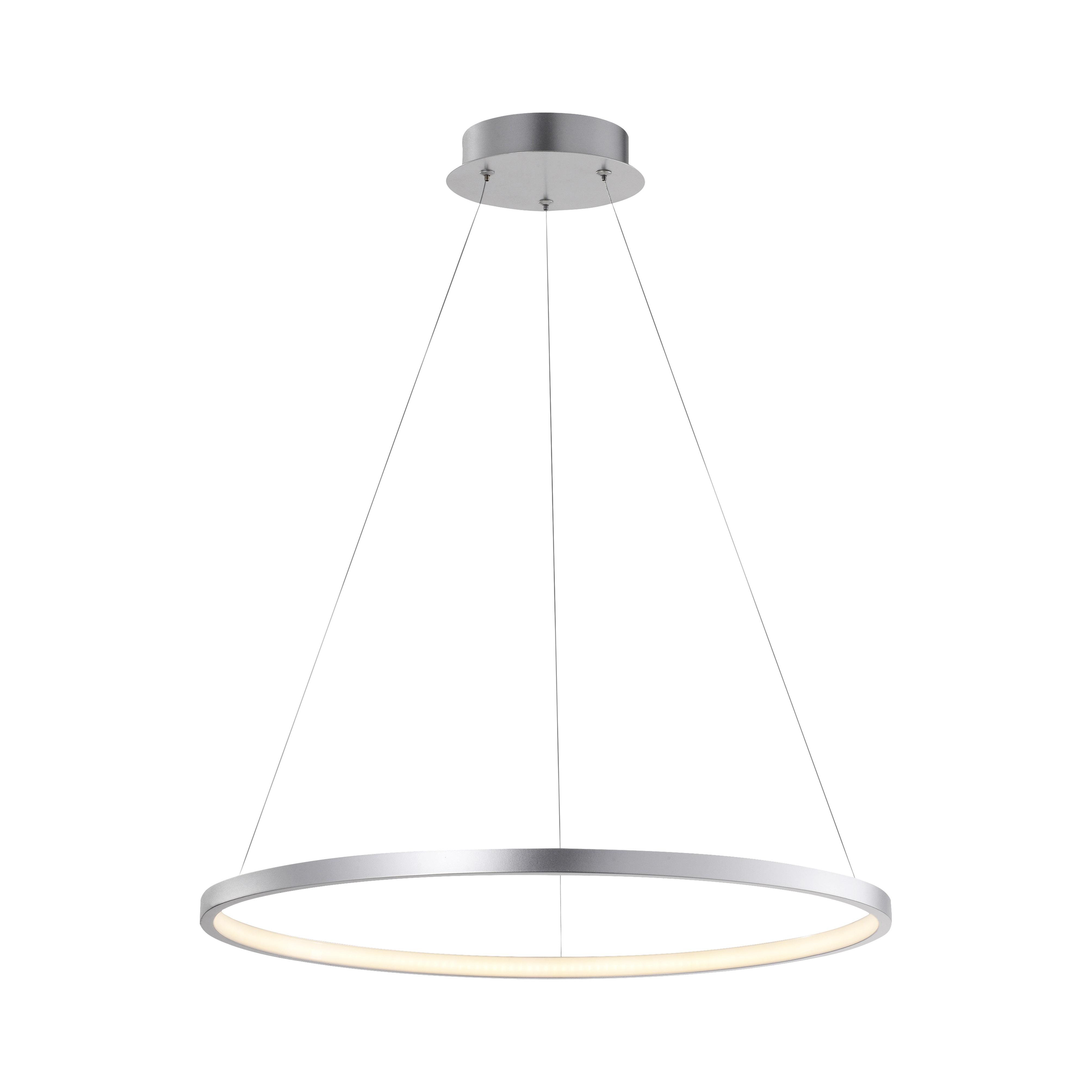 Moderne ring hanglamp zilver 60cm incl. LED - Anella