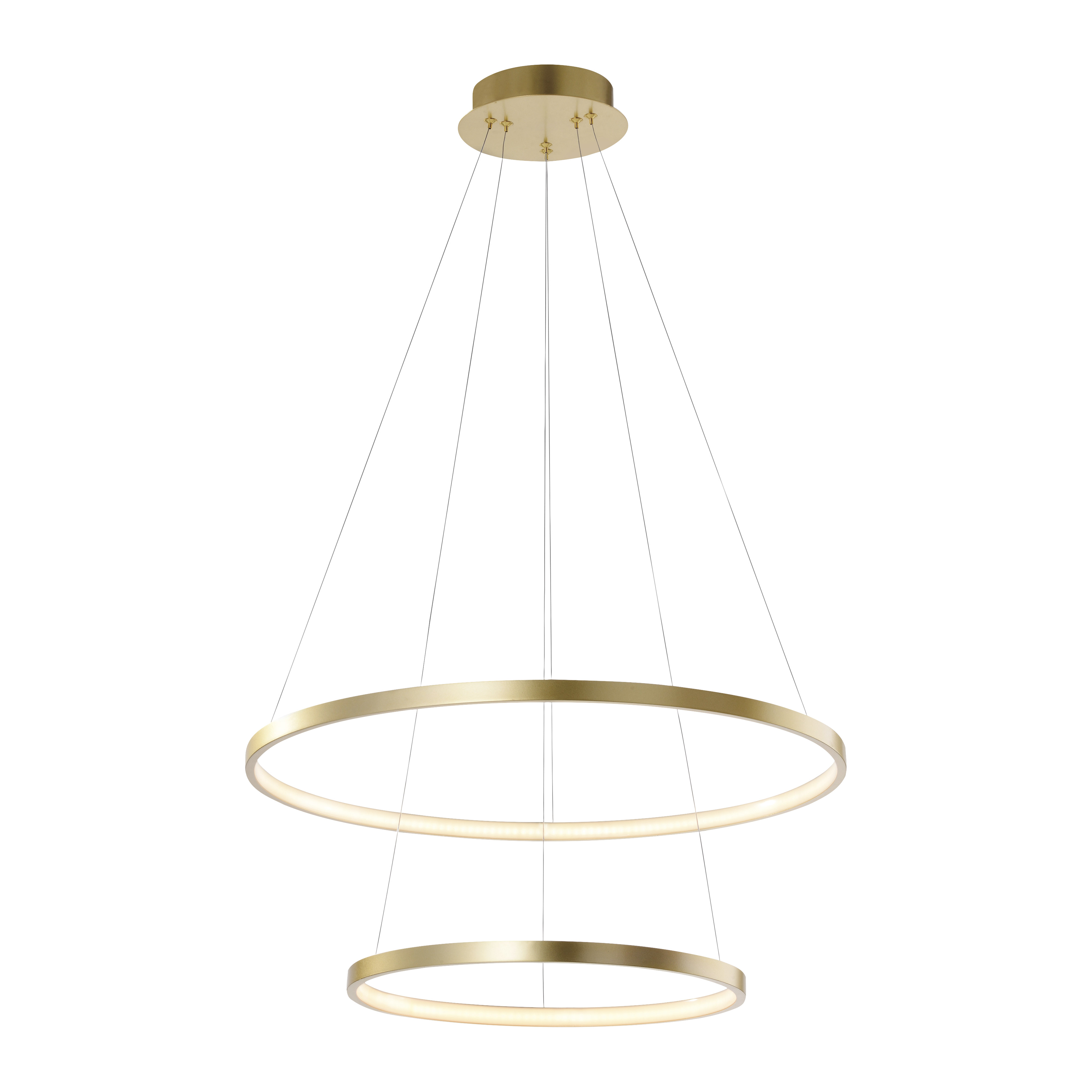 Moderne ring hanglamp goud incl. LED - Anella Duo