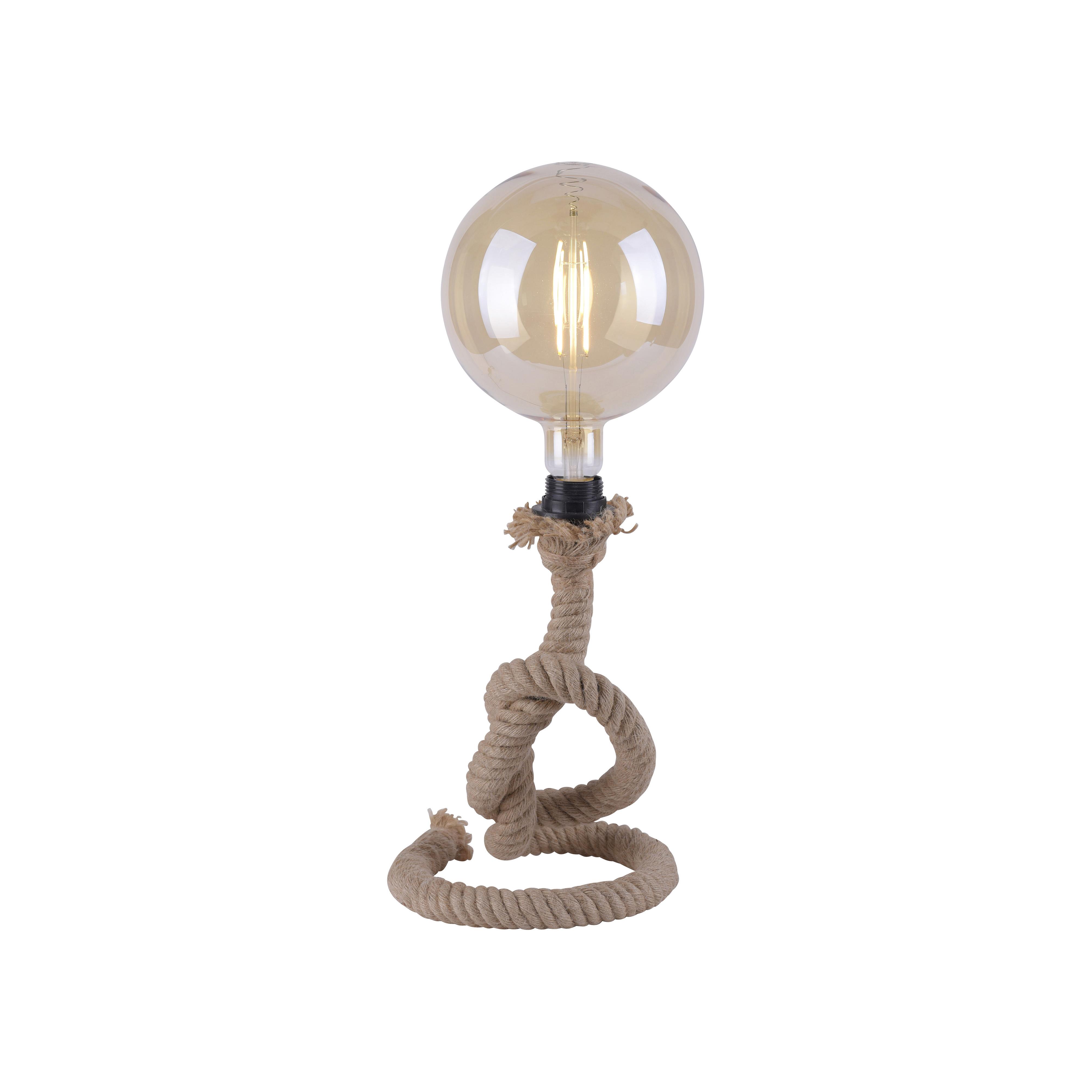 Landelijke tafellamp van touw - Ropa