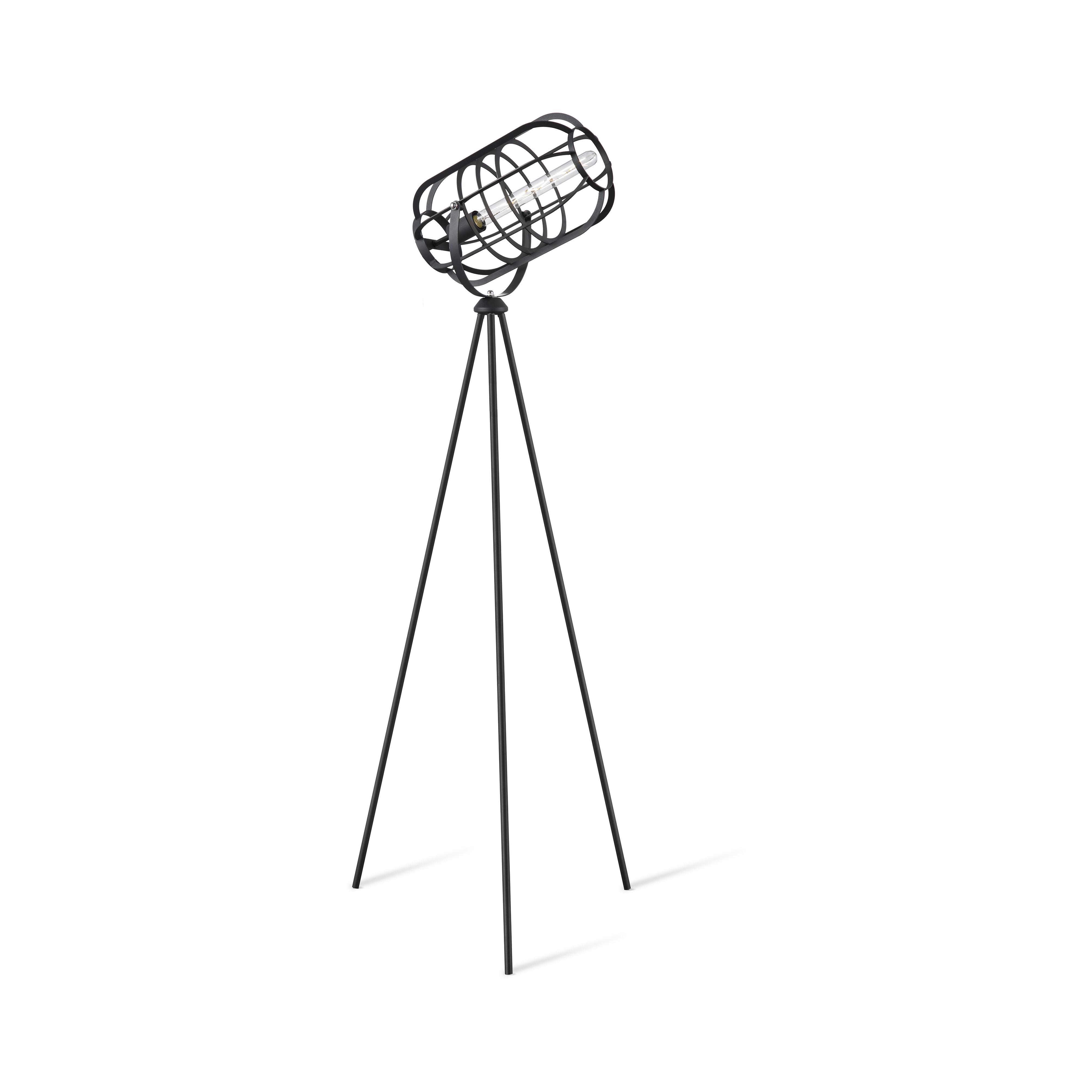 Moderne tripod vloerlamp zwart - Zodiac
