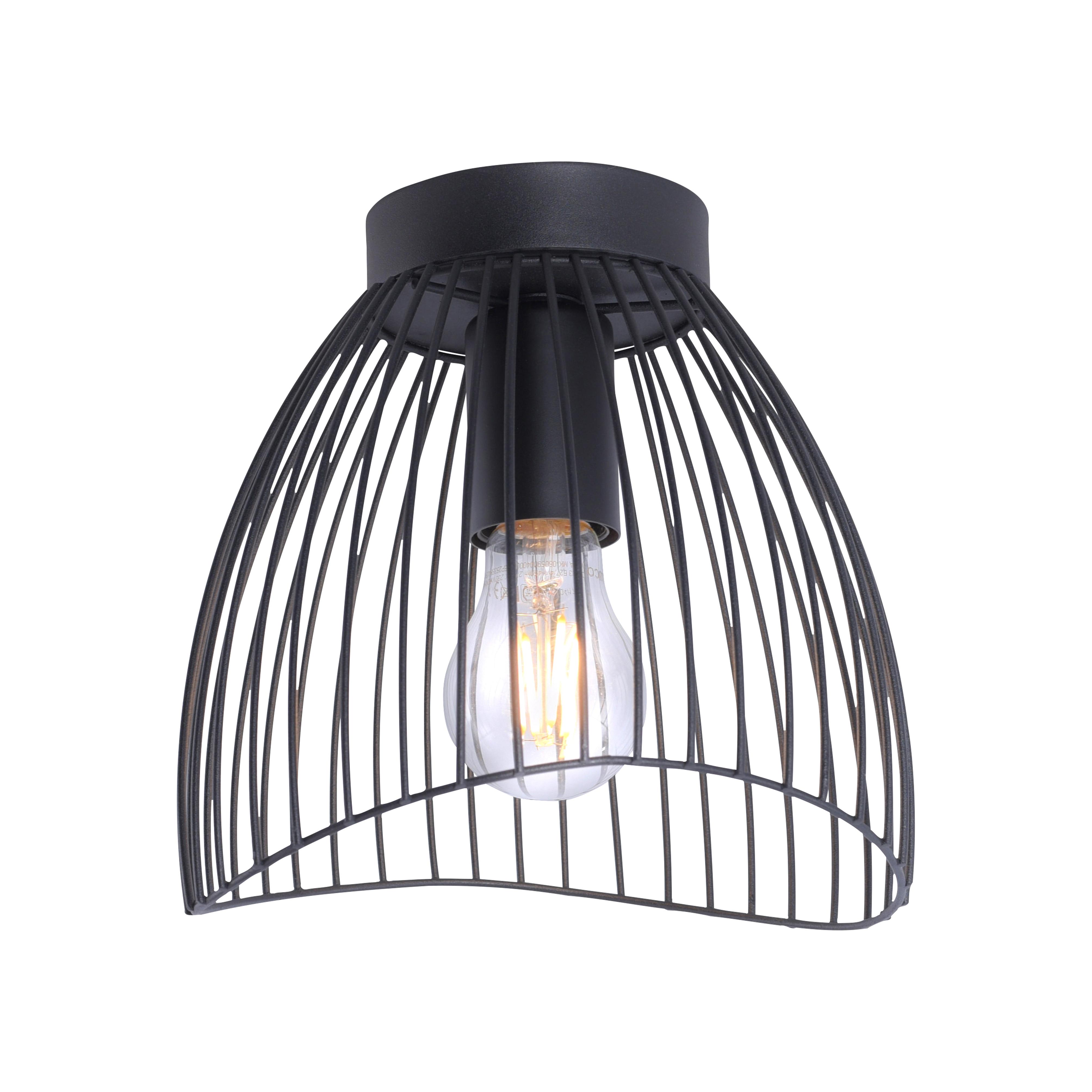 Design plafondlamp zwart - Pua