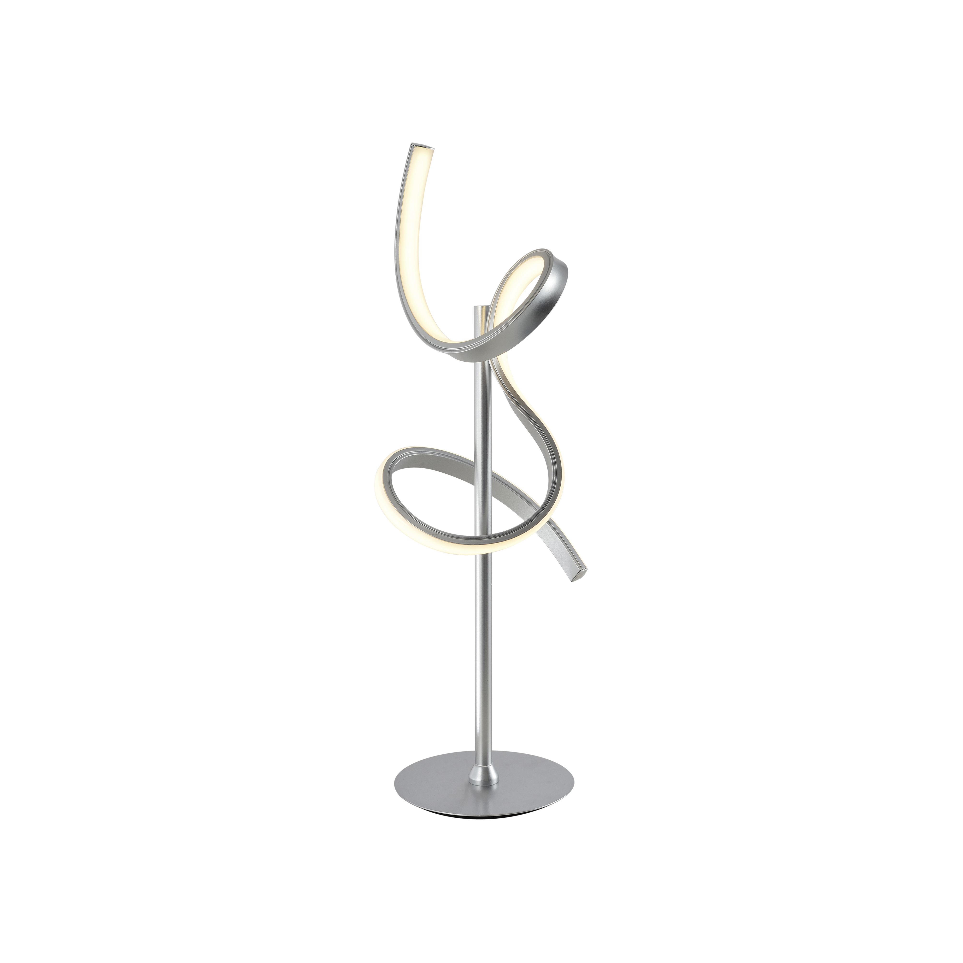 Design tafellamp zilver dimbaar incl. LED - Krisscross