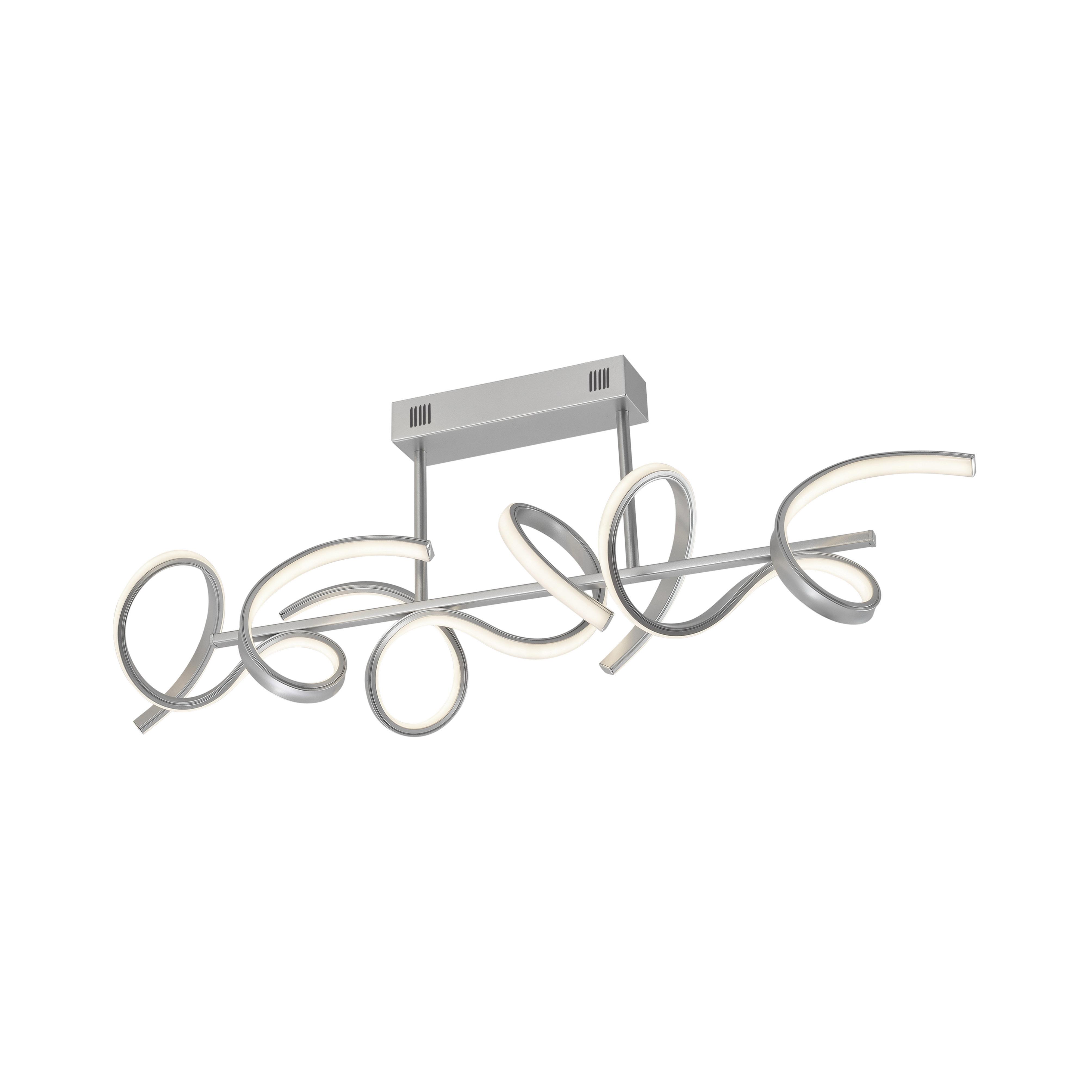 Design plafondlamp zilver dimbaar incl. LED - Krisscross
