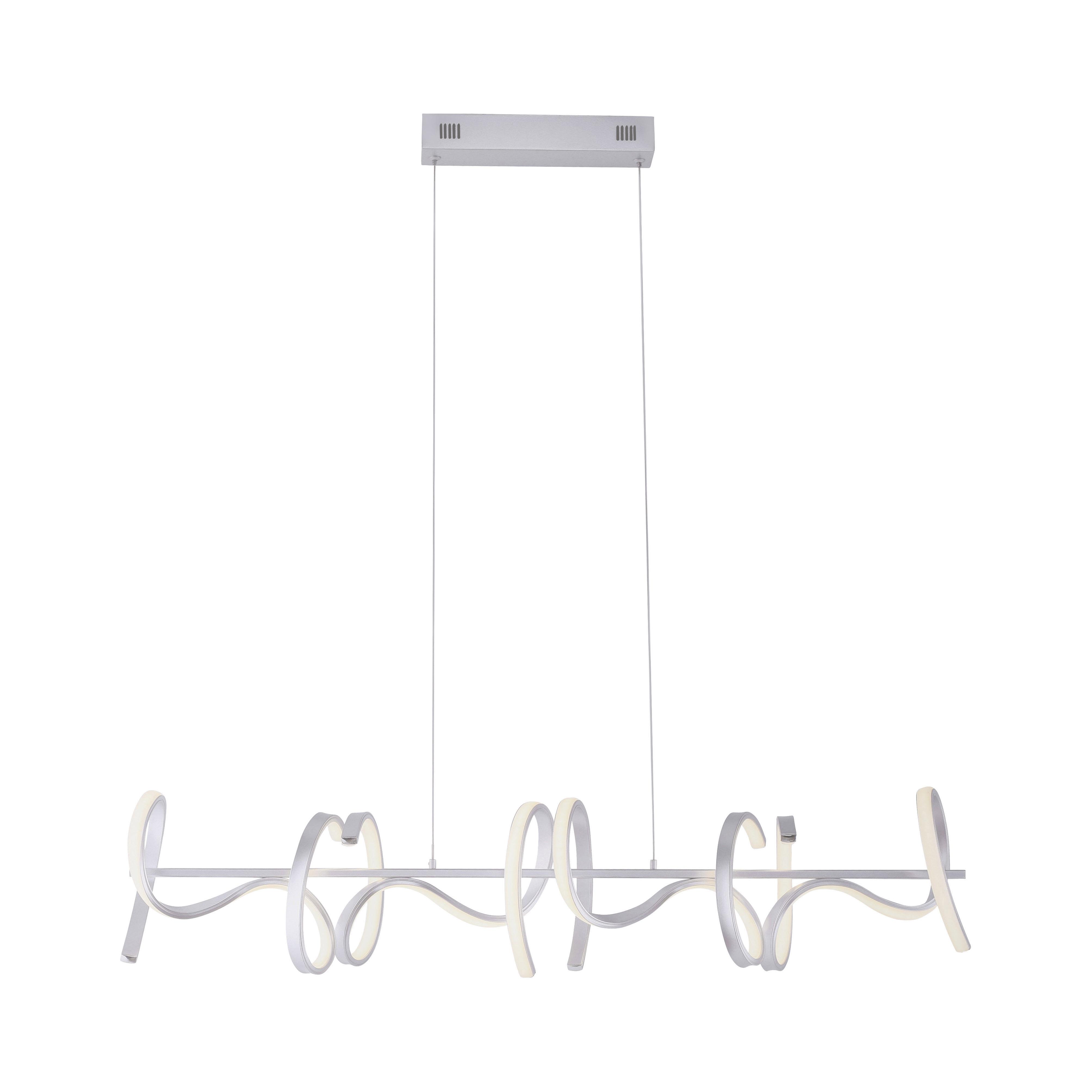 Design hanglamp zilver dimbaar incl. LED - Krisscross