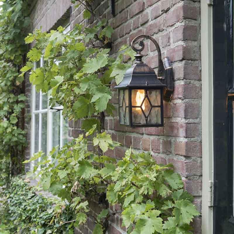 Romantische buiten wandlantaarn brons - London
