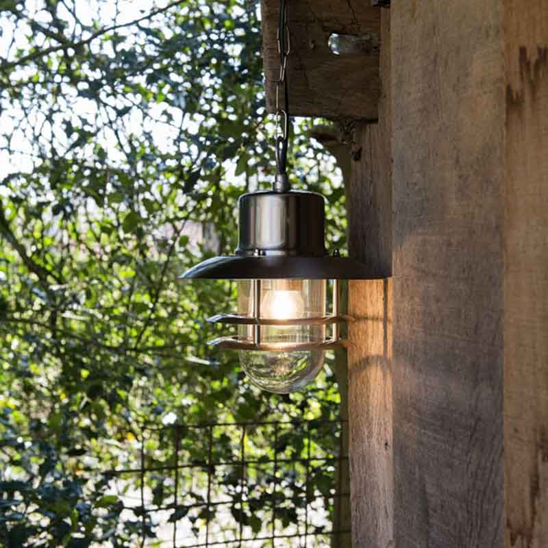 Retro hanglamp staal - Shell