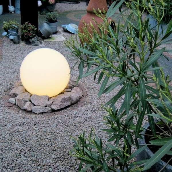 Kugelleuchte 50cm | Lampen > Tischleuchten > Kugelleuchten | Weiß | Kunststoff | QAZQA