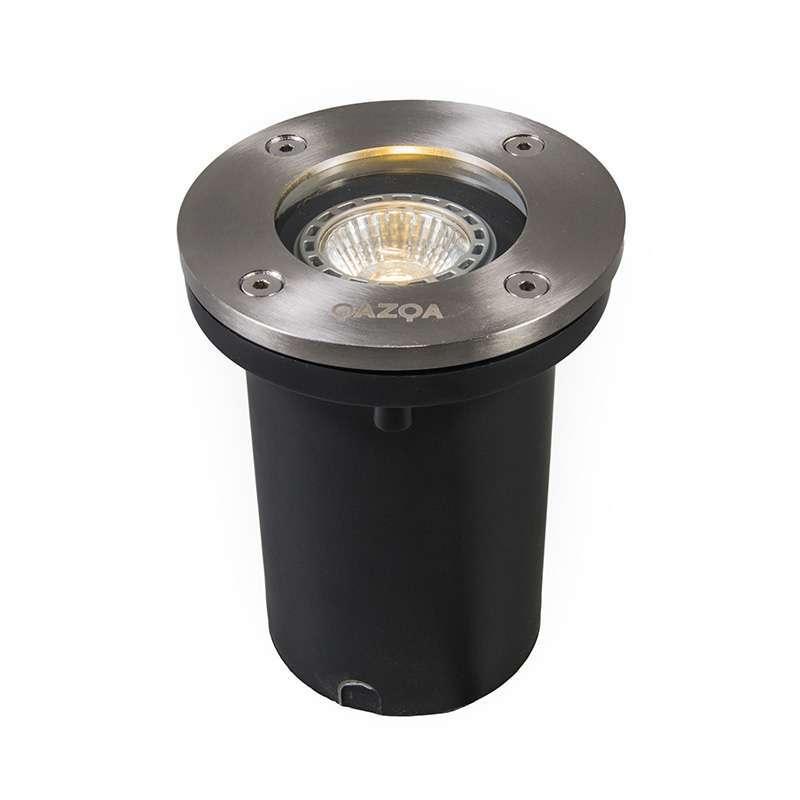 Set van 6 buiten grondspots staal IP65 incl LED - Basic Round