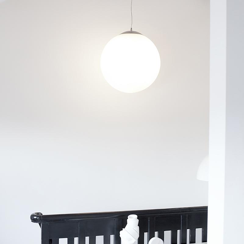 Scandinavische hanglamp opaal glas 50cm - Ball 50