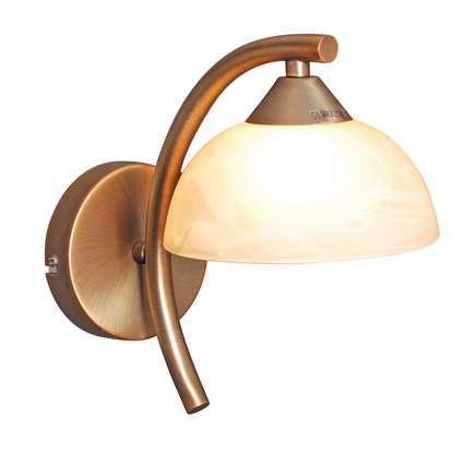 Wandlamp Milano 15 brons