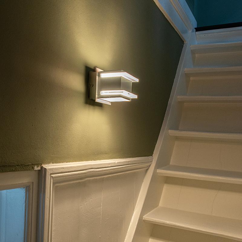 Design wandlamp aluminium - Block