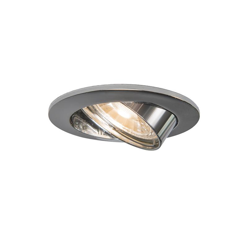 Einbaustrahler Edu rund chrom | Lampen > Strahler und Systeme > Einbaustrahler | Chrom | Metall | QAZQA
