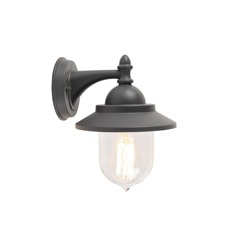 Romantische buitenwandlamp donker grijs - Oxford