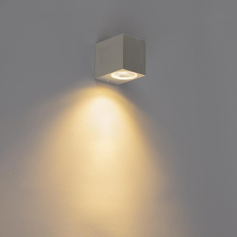 Moderne Wandlamp Staal Ip44 - Baleno Ii