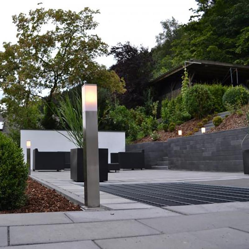 Moderne buitenlamp 80 cm staal Malios