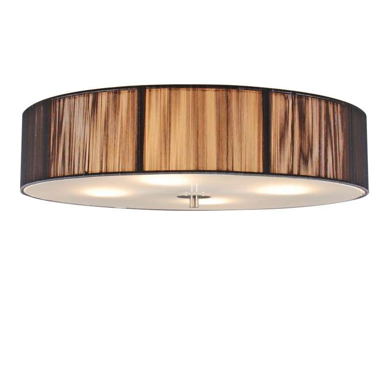 Klassieke plafondlamp antraciet 50 cm - Rope