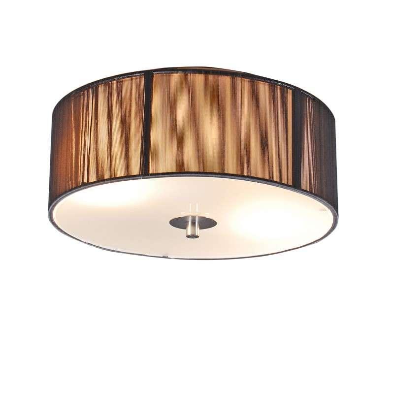Klassieke plafondlamp antraciet 30 cm - Rope