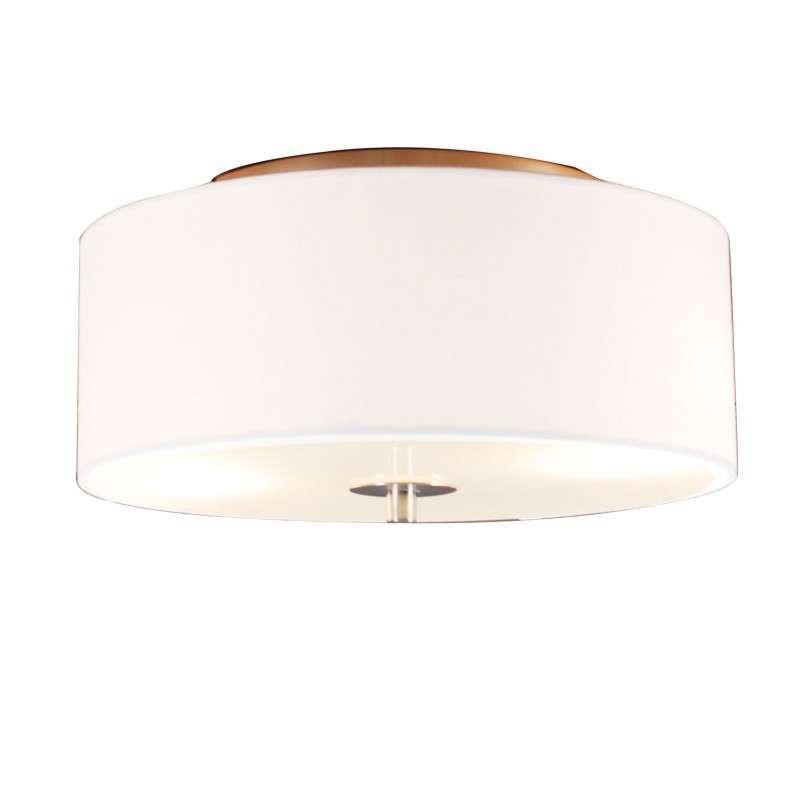 Landelijke plafondlamp wit 30 cm - Drum