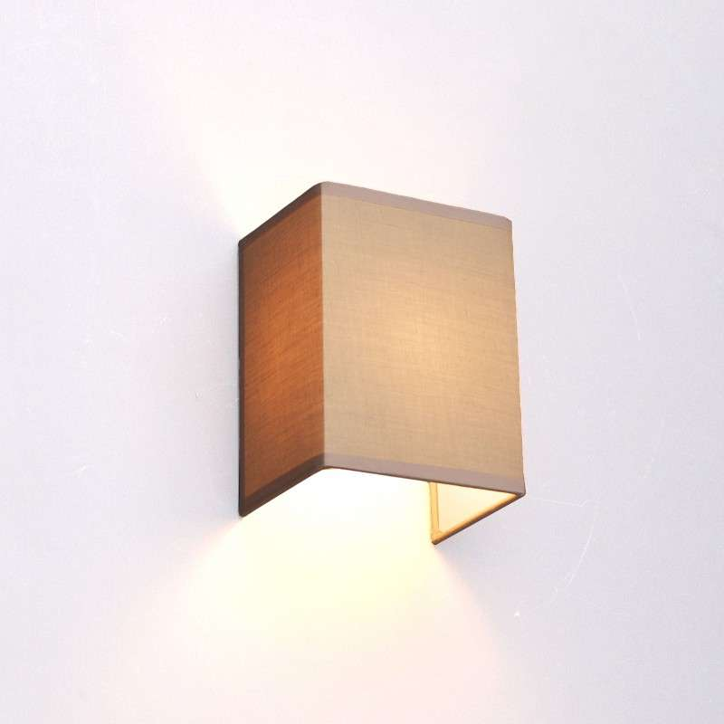Landelijke wandlamp beige - Vete