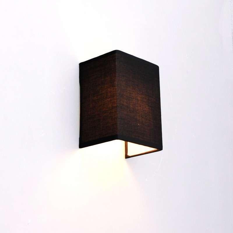 Moderne wandlamp zwart - Vete