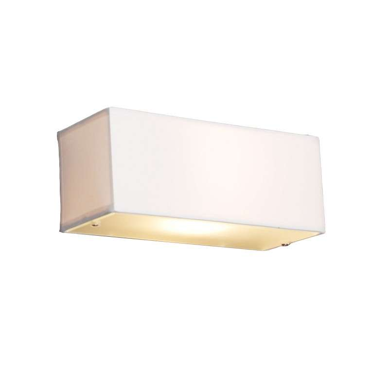 Moderne wandlamp rechthoekig wit - Drum