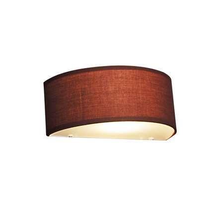 Wandlamp Drum half rond bruin
