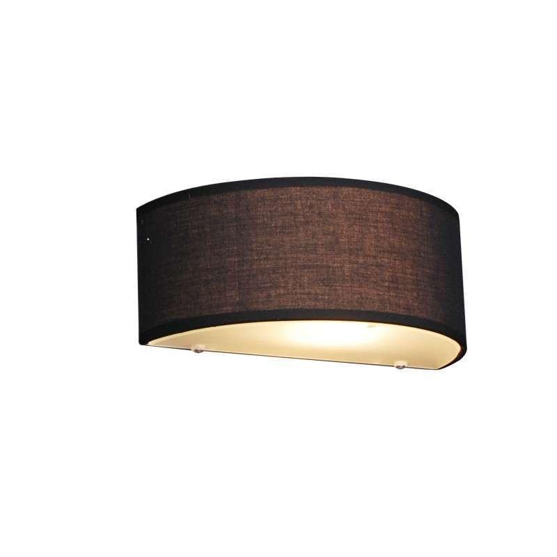 Landelijke wandlamp half rond zwart - Drum