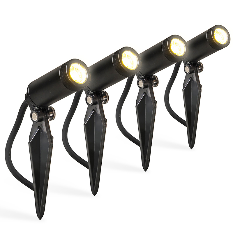 Set van 4 prikspots incl. LED IP68 - Garly