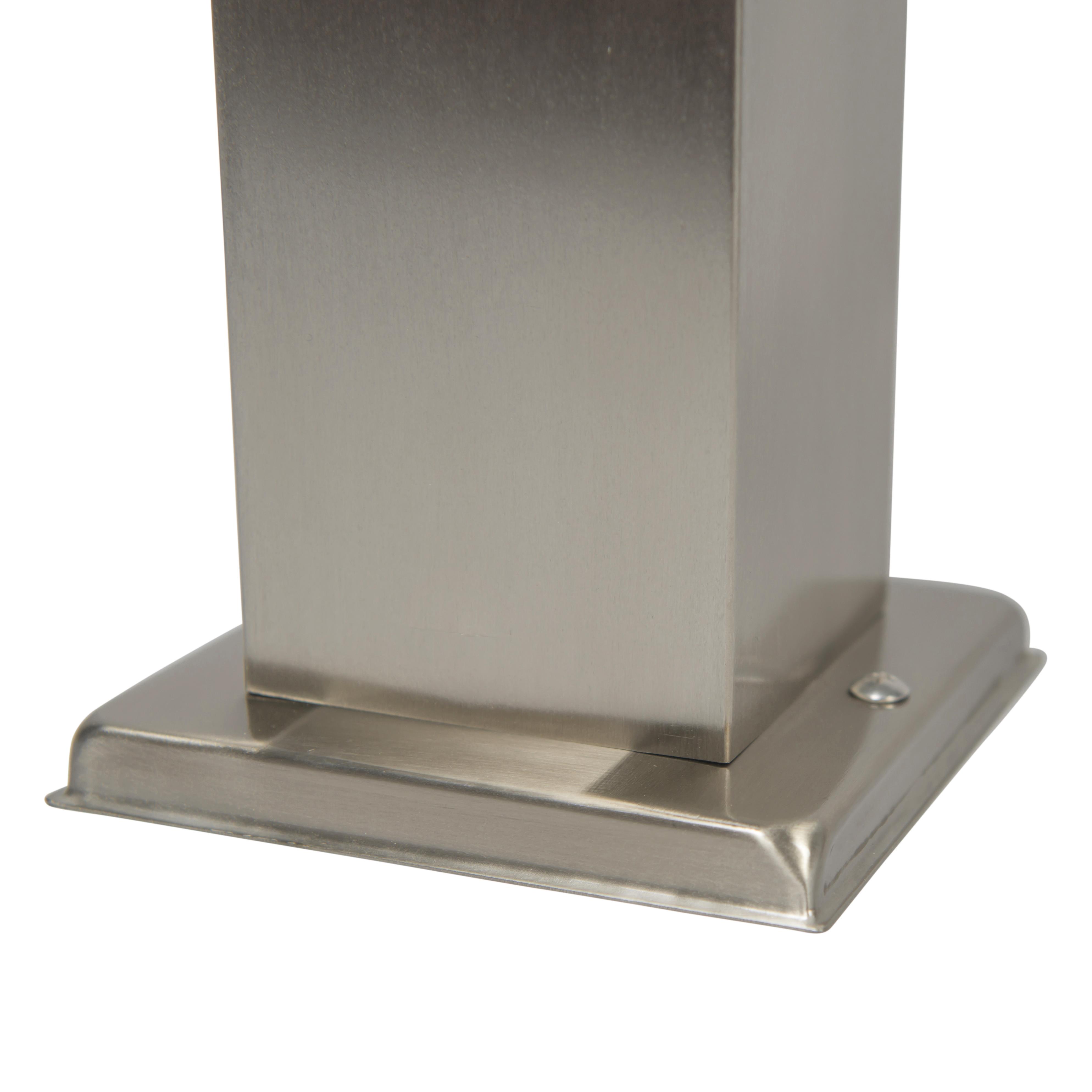 Moderne vierkante buitenlamp 45cm staal – Malios