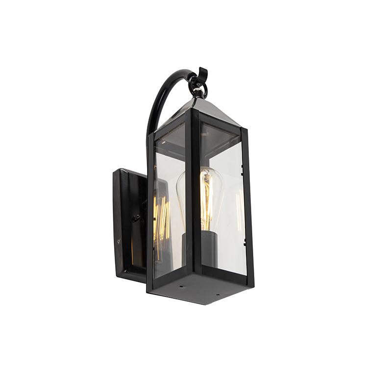 Landelijke buitenwandlamp zwart IP44 - Bussum