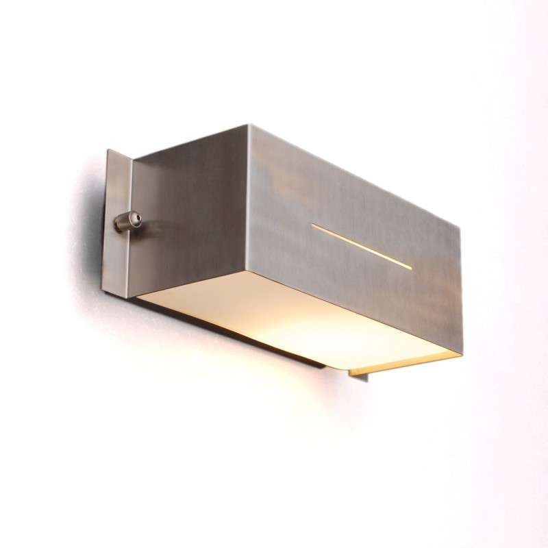 Buitenlamp Celine wand Square RVS