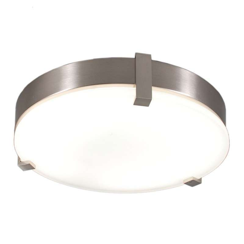 Plafonniere Crook rond 32W staal
