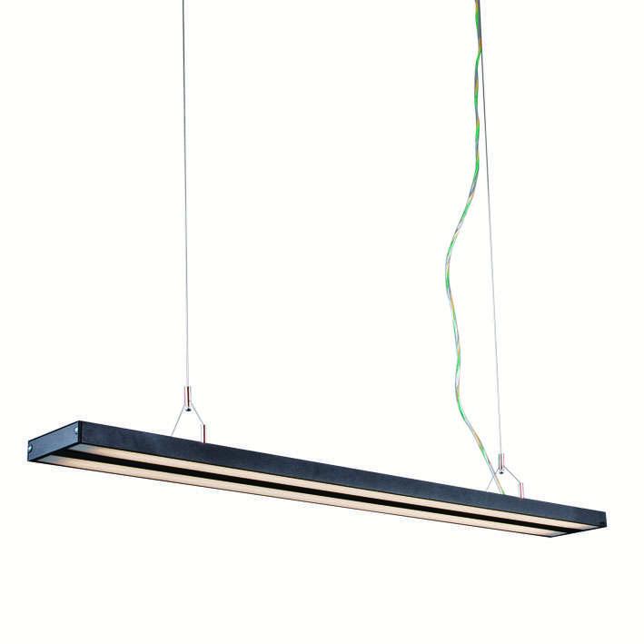 Hanglamp Tube S zwart 2 x 28W