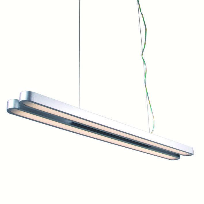 Hanglamp Tube U Double 28W zilver