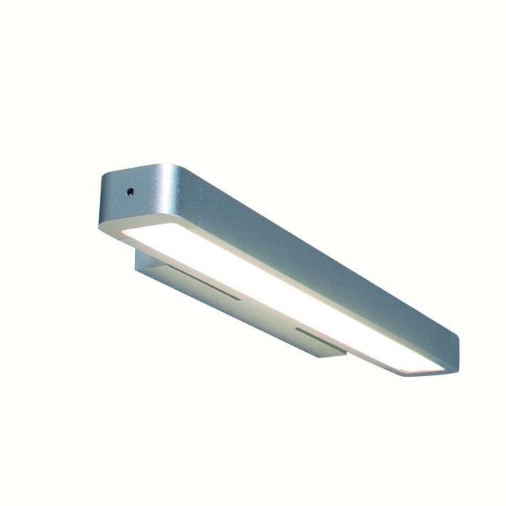 Wandlamp Tube U 14W zilver