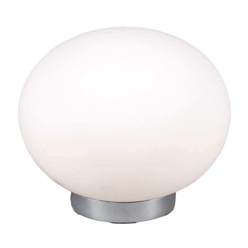 Tafellamp Ball 24 staal met wit glas
