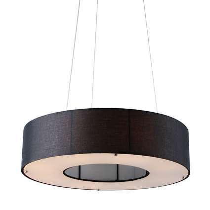 Hanglamp Drum Open 60cm zwart