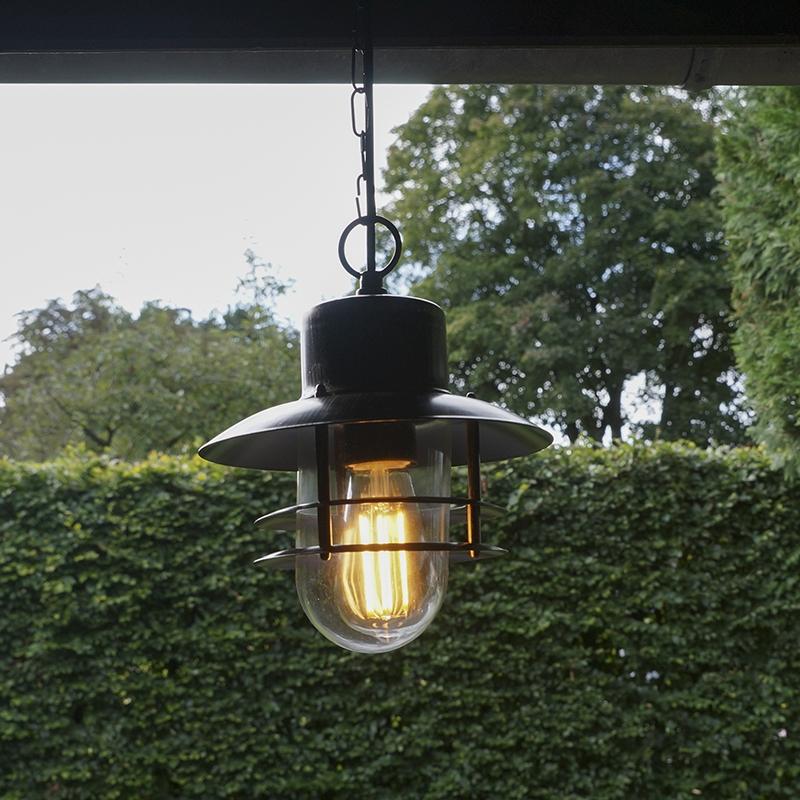 Retro hanglamp brons - Shell