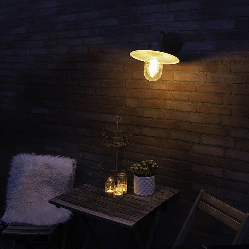 Buitenwandlamp Antraciet Ip44 - Kansas Grafiet