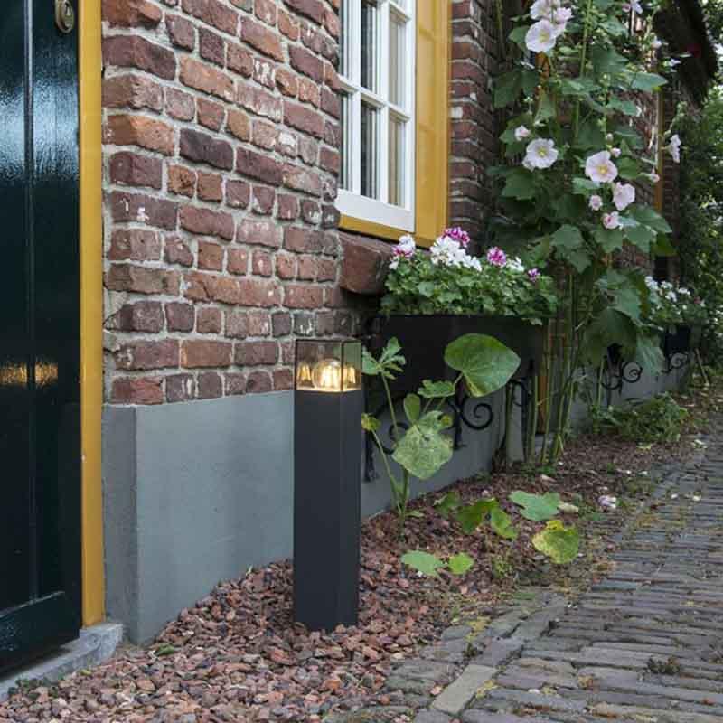 Moderne staande buitenlamp 50 cm antraciet IP44 - Denmark