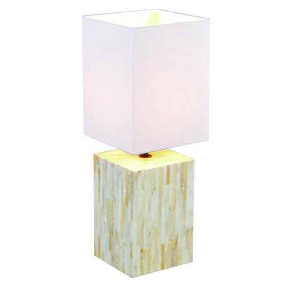 Tafellamp Pearl met witte kap