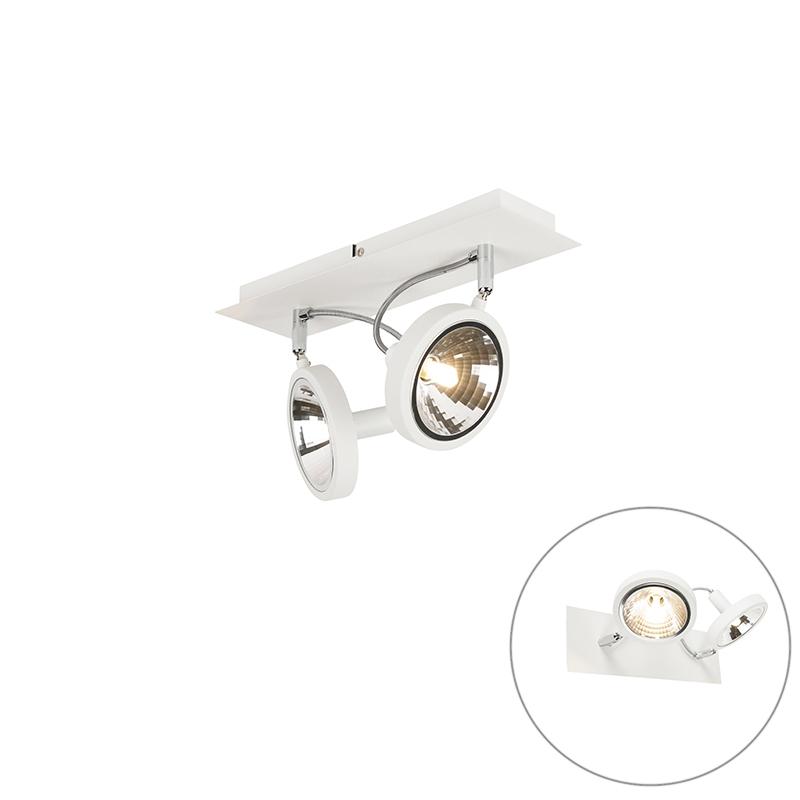 Design Spot Wit 2-lichts Verstelbaar - Nox