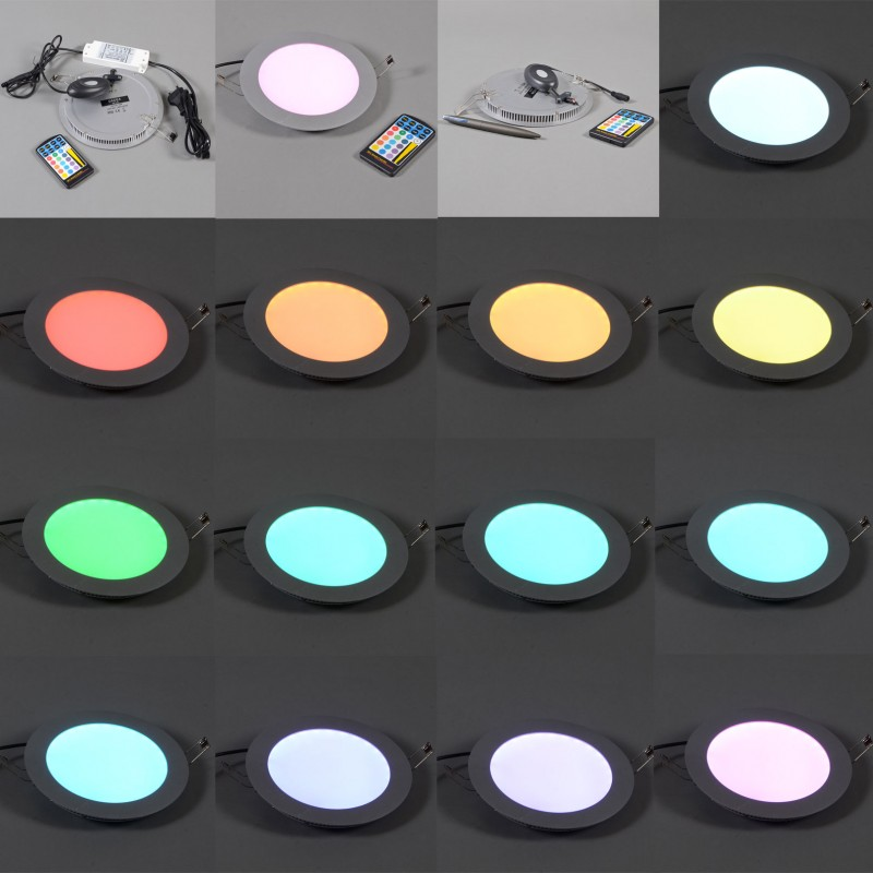 Super platte inbouwlamp Radem RGB