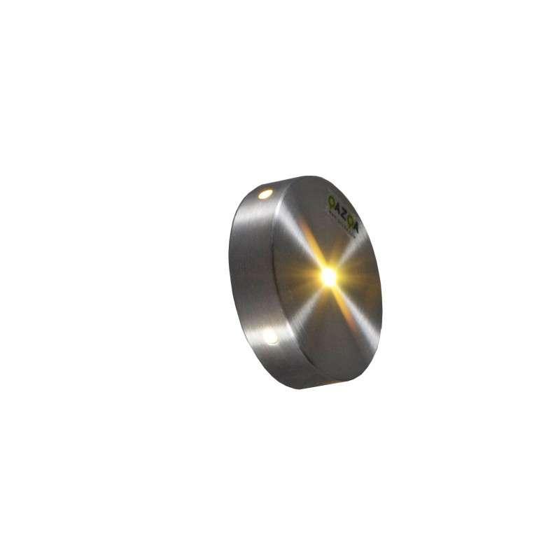 Wand inbouwlamp Quartz rond IV aluminium