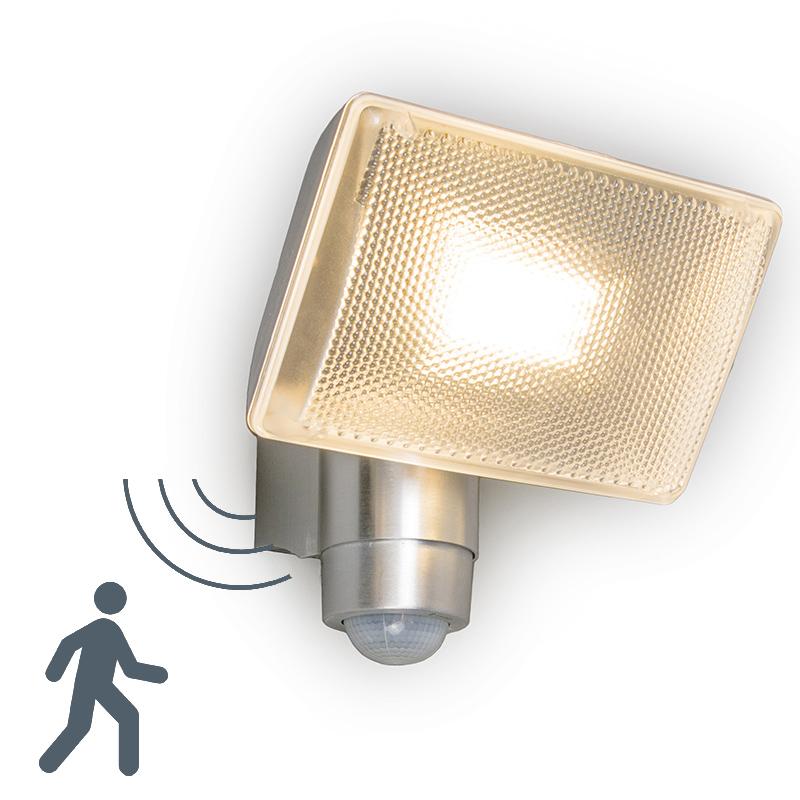 LED straler VAP Delux met bewegingsmelder aluminium
