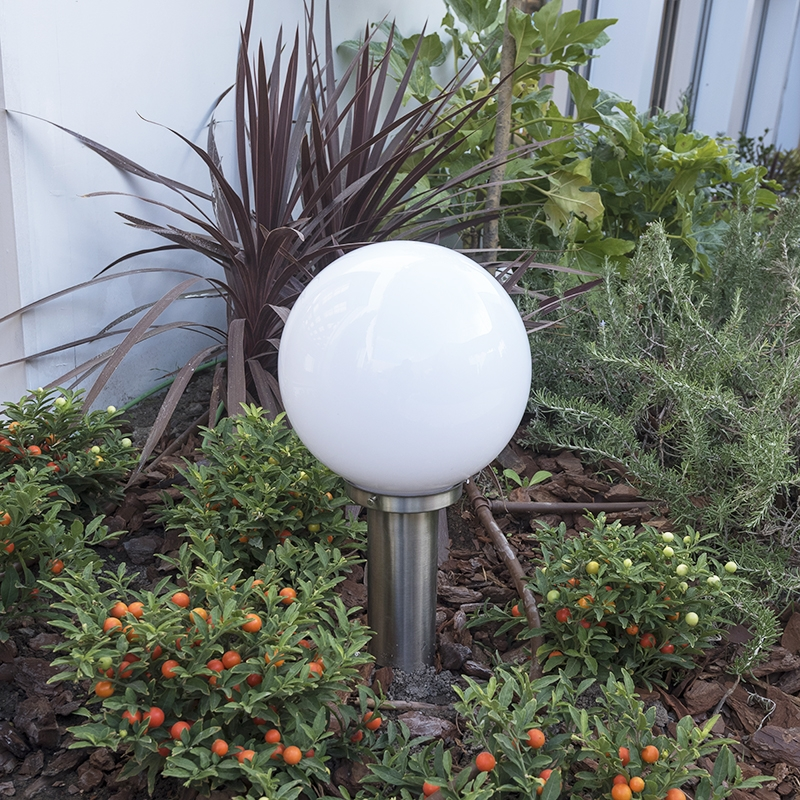 Moderne buitenlamp paal staal RVS 50 cm - Sfera